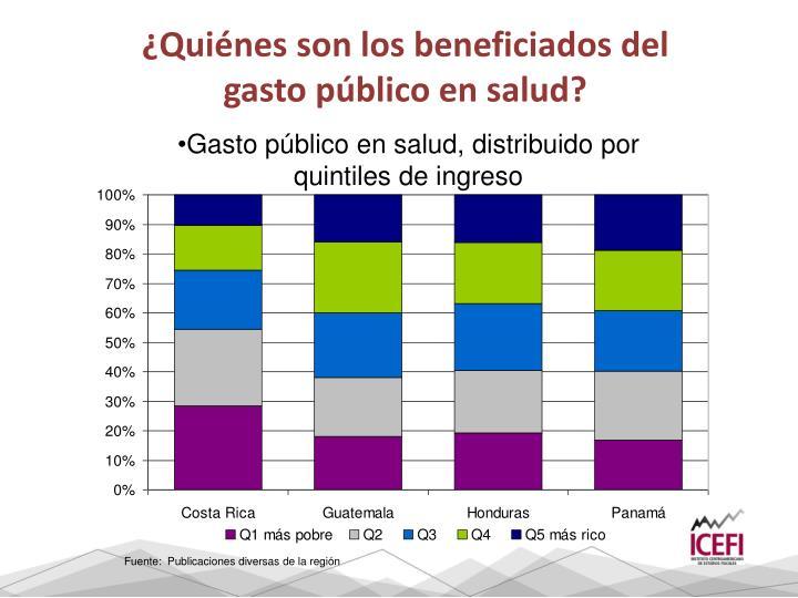 ¿Quiénes son los beneficiados del gasto público en salud?