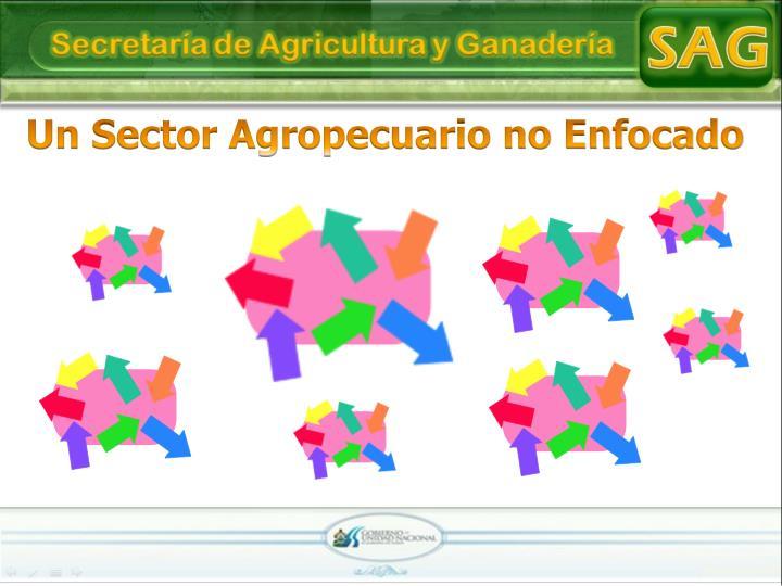 Un Sector Agropecuario no Enfocado