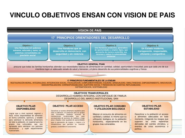 VINCULO OBJETIVOS ENSAN CON VISION DE PAIS