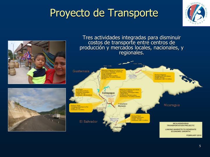 Proyecto de Transporte