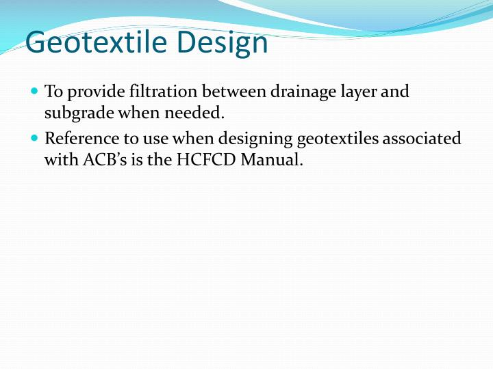 Geotextile Design