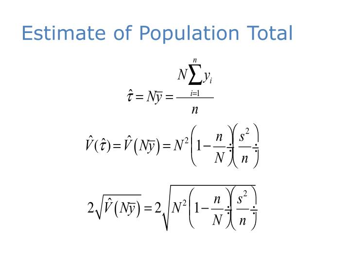 Estimate of Population Tota
