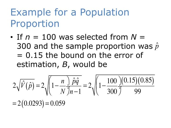 Example for a Population Proportion