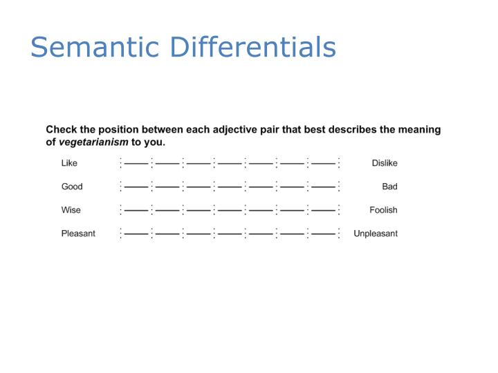 Semantic Differentials
