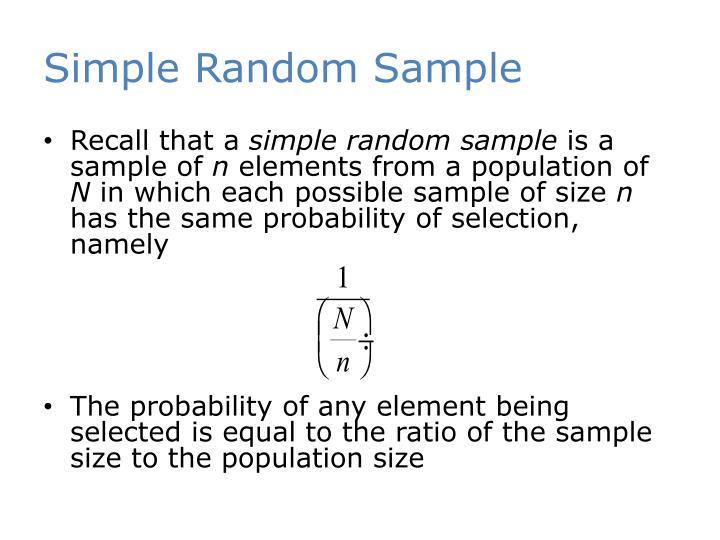 Simple Random Sample