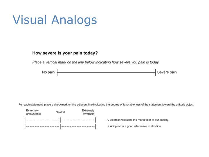 Visual Analogs