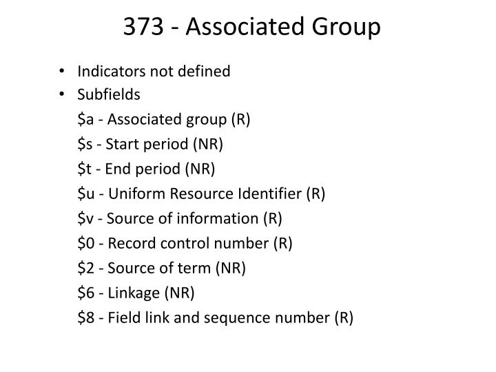 373 - Associated Group