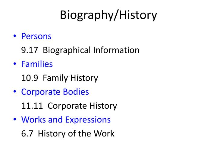 Biography/History