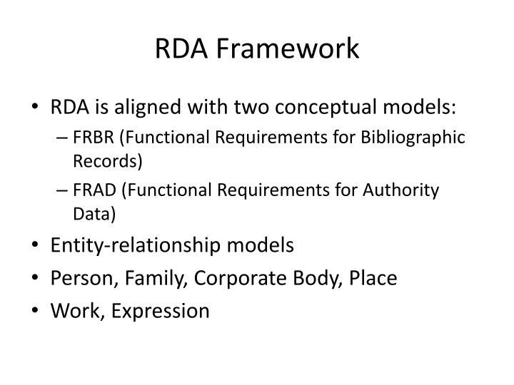 RDA Framework