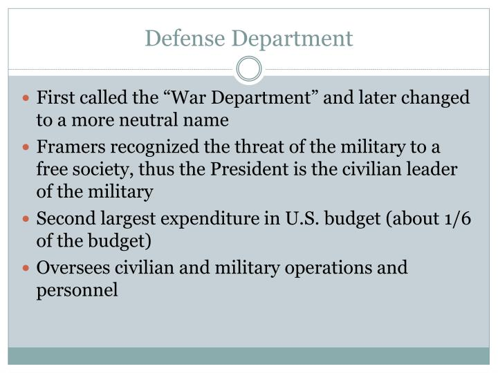 Defense Department