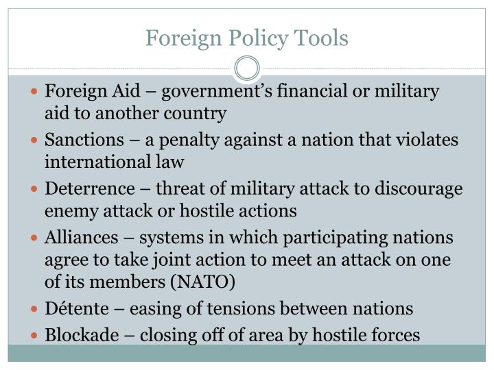 Foreign Policy Tools