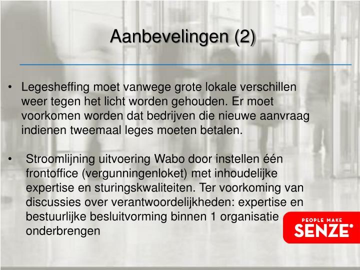 Aanbevelingen (2)