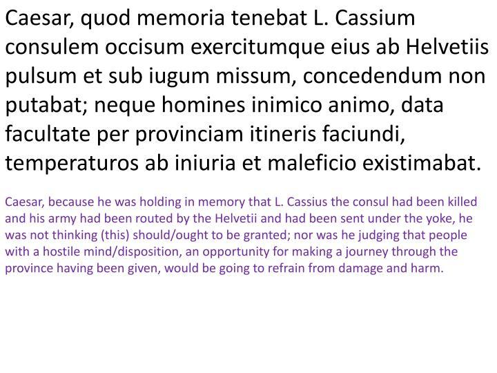 Caesar, quod