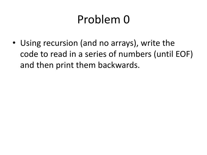 Problem 0
