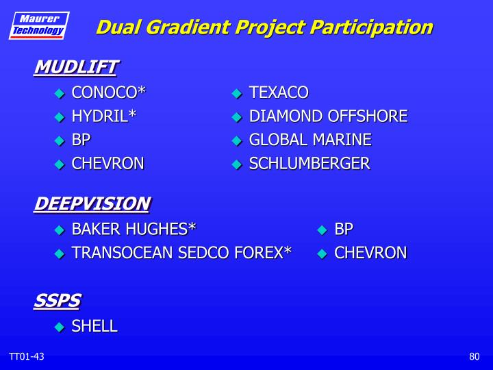Dual Gradient Project Participation