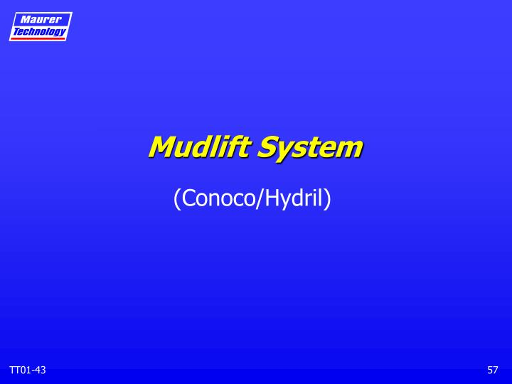 Mudlift System