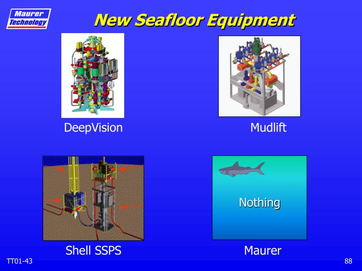 New Seafloor Equipment