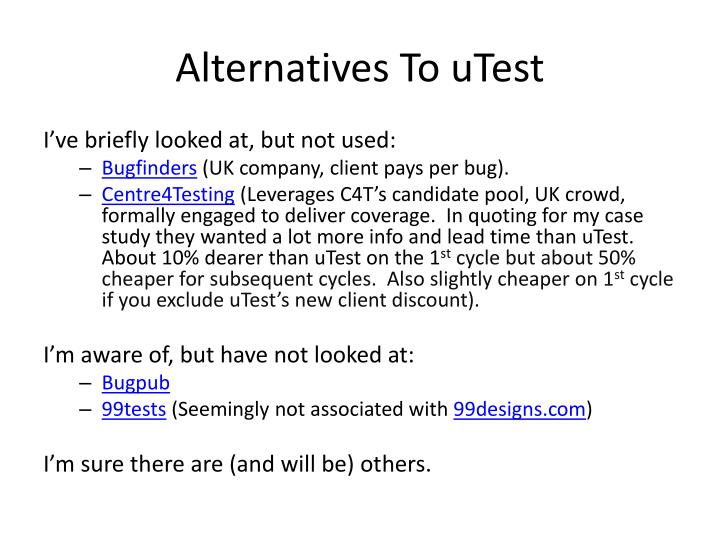 Alternatives To uTest