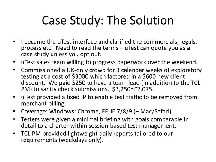 Case Study: The Solution