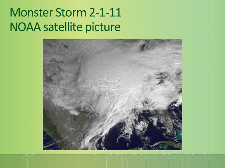 Monster storm 2 1 11 noaa satellite picture