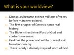 what is your worldview2