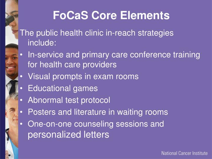 FoCaS Core Elements