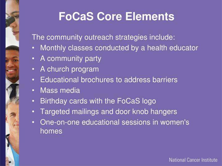 FoCaS Core Elements