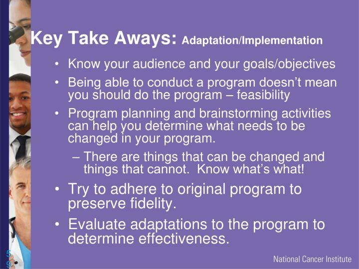Key Take Aways:
