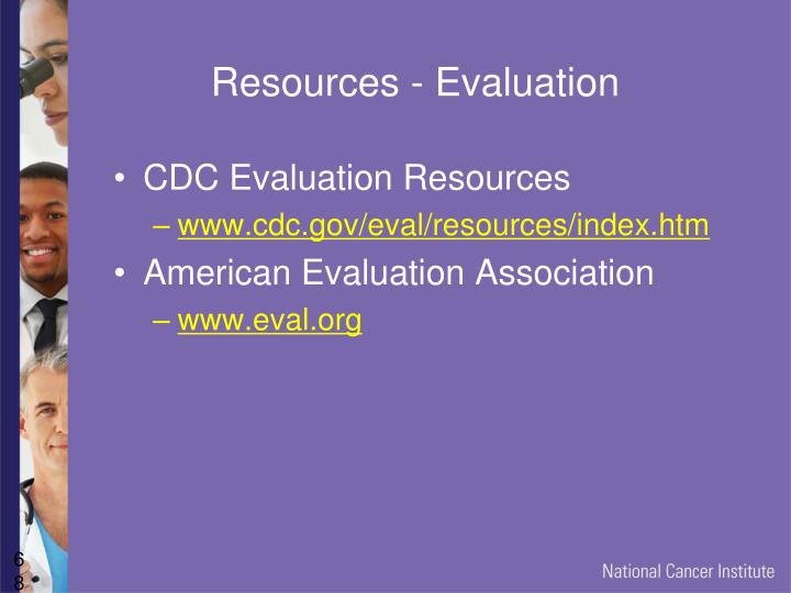 Resources - Evaluation