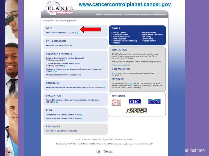 www.cancercontrolplanet.cancer.gov