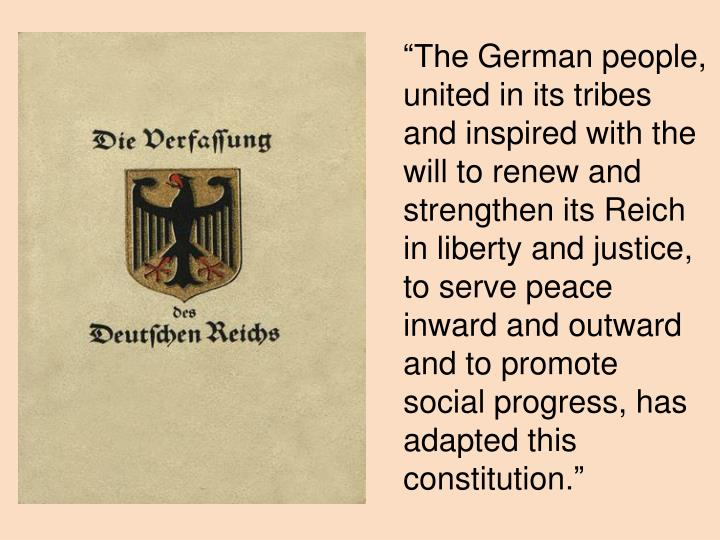 the main threat to the weimar republic This is a sample of our (approximately) 3 page long essay plan 'the main threat to the existence of the weimar republic in the years 1919 23 was its fated constitution'.