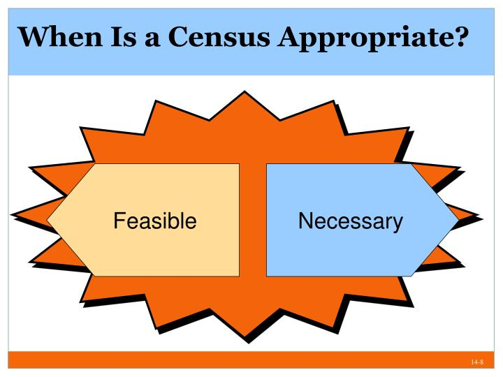 When Is a Census Appropriate?