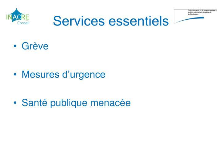 Services essentiels