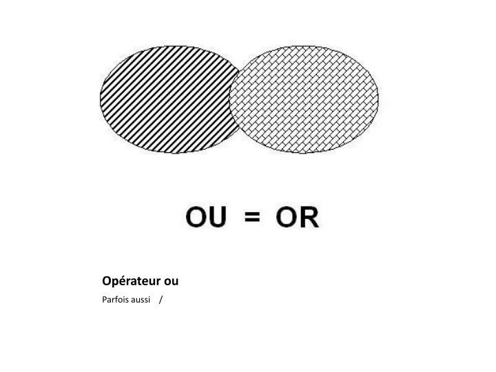 Opérateur ou