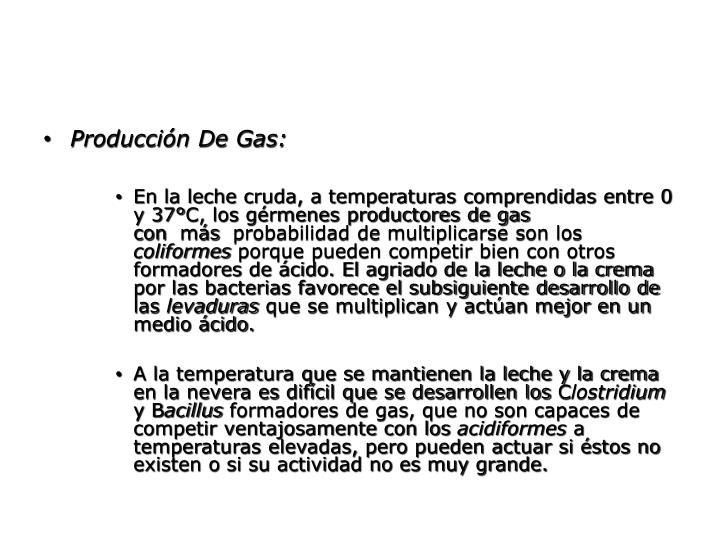 Producción De Gas: