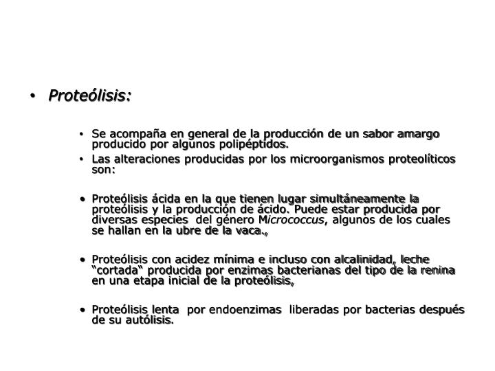 Proteólisis: