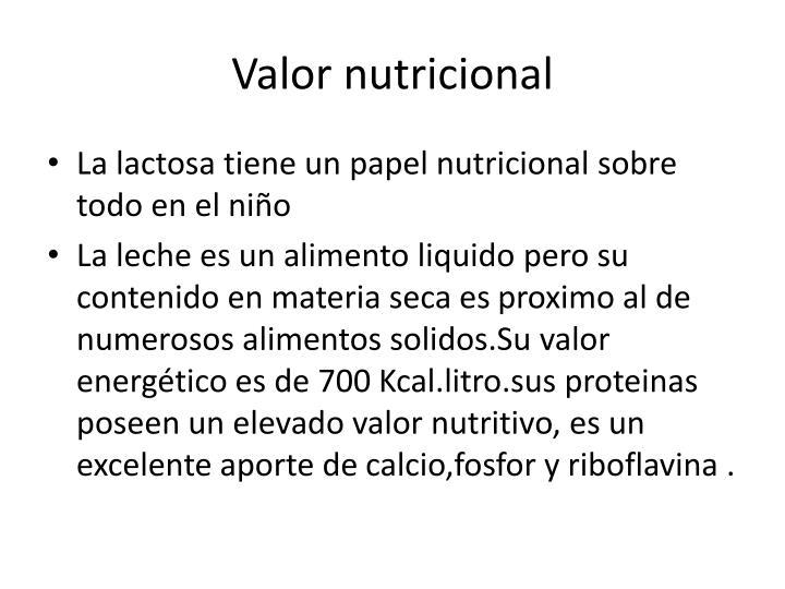 Valor nutricional