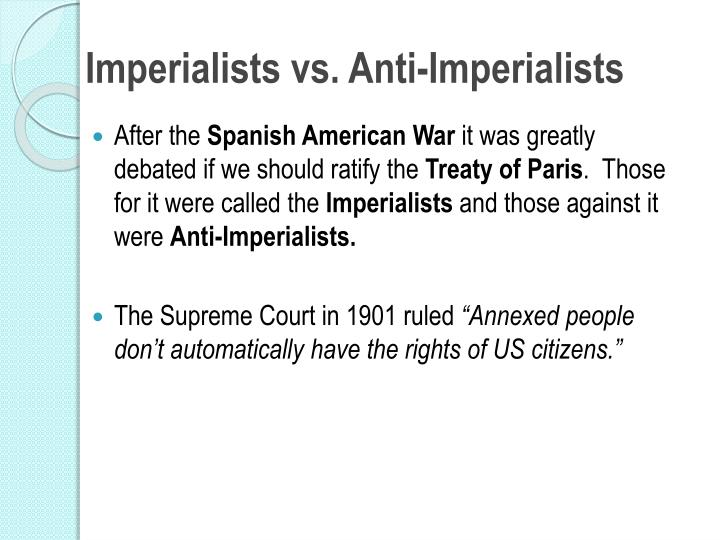 Imperialists vs. Anti-Imperialists