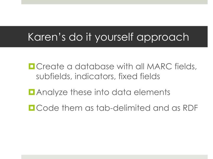 Karen's do it yourself approach
