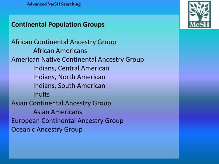 Continental Population Groups