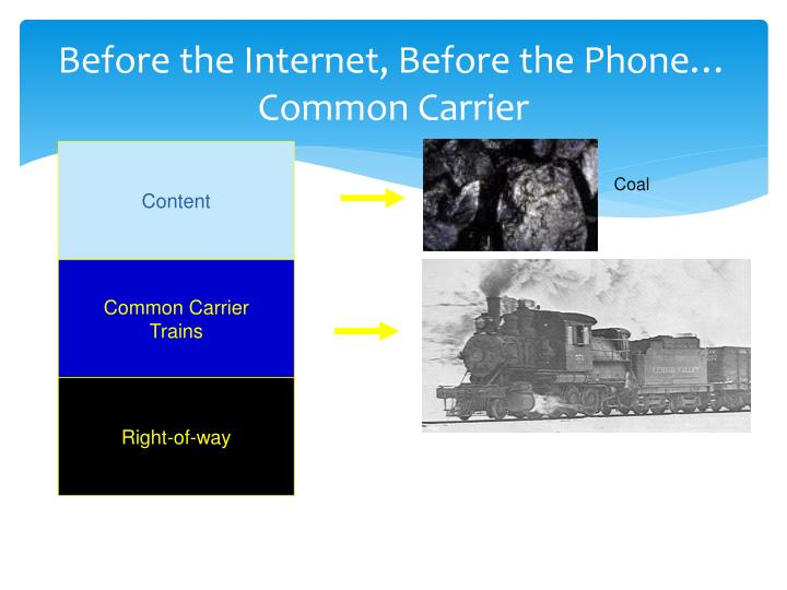 Before the Internet, Before the Phone… Common Carrier
