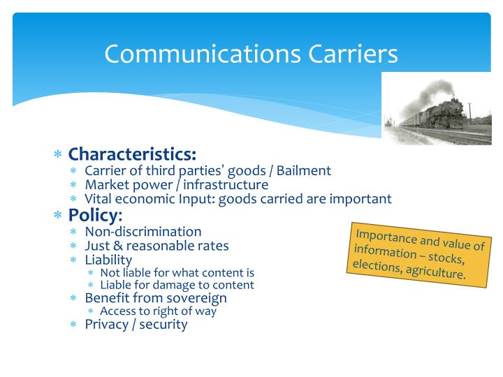 Communications Carriers
