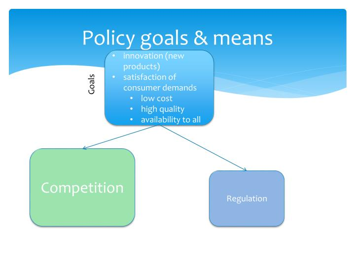 Policy goals & means