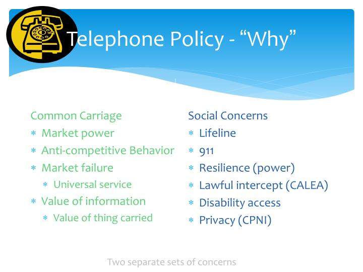 Telephone Policy -