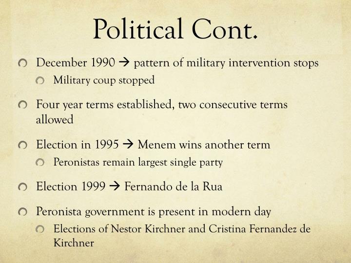 Political Cont.
