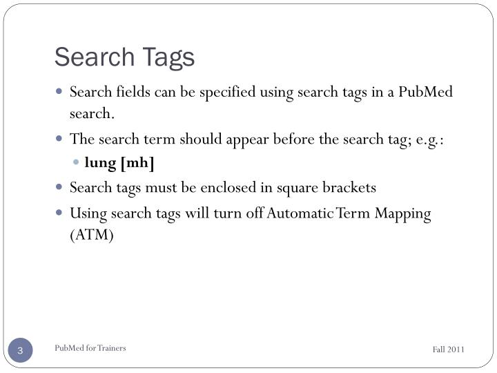 Search tags