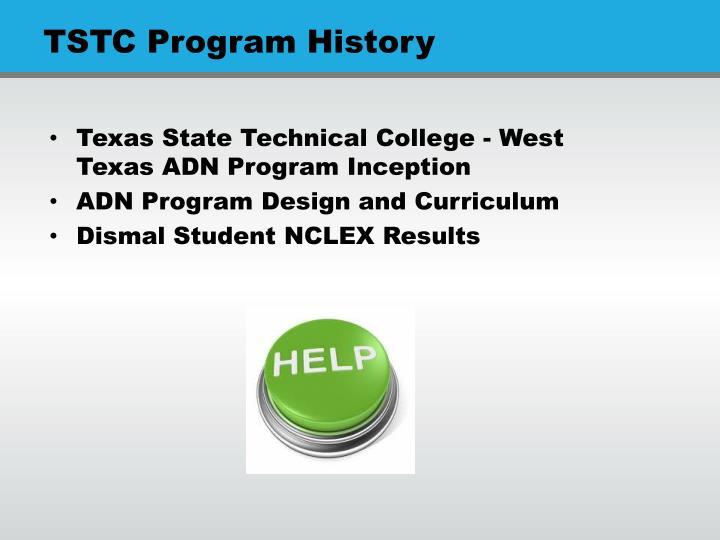 TSTC Program History