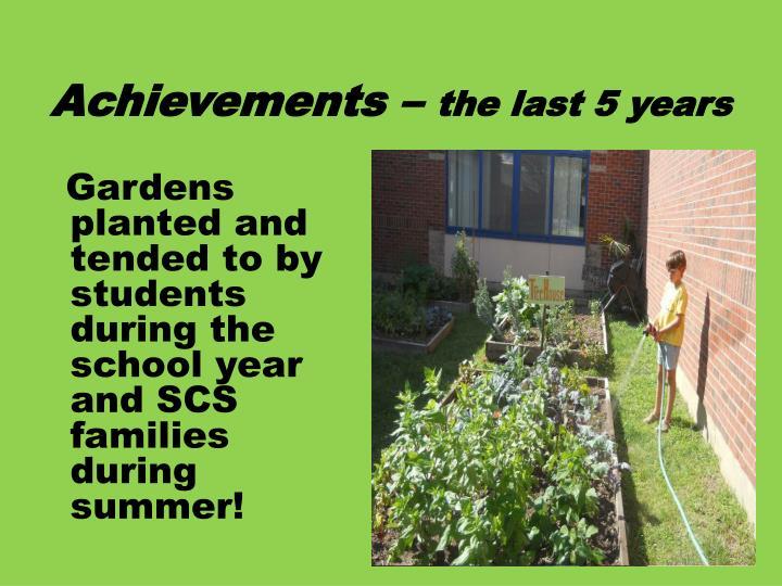 Achievements –