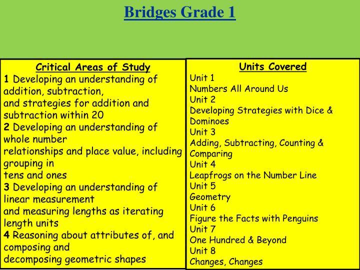 Bridges Grade 1