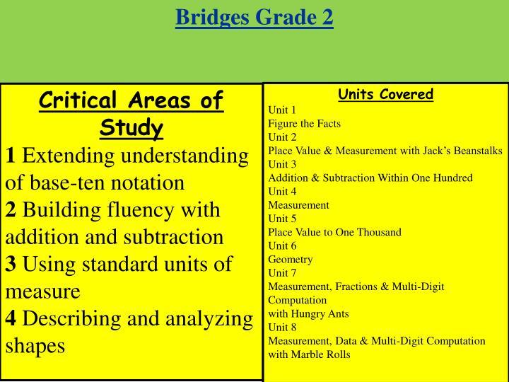 Bridges Grade 2